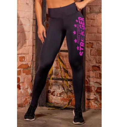 Športové legíny Sw Fitness Black Zig