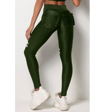 Legíny s vysokým pásom Tfin Green Pockets HIPKINI