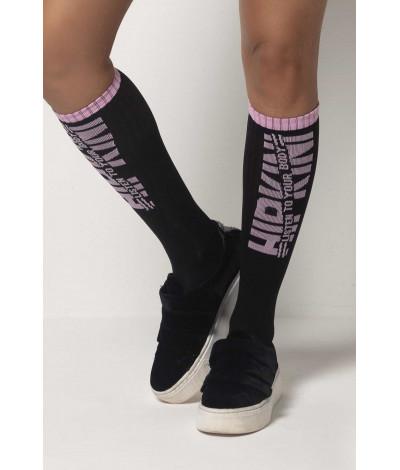 Sportovní ponožky Tfin Black and Pink HIPKINI