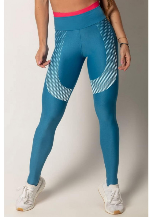 Modré legíny s vysokým pásom Run Blue Hipkini