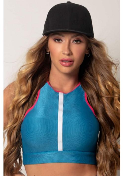 Športový top Run Fitness Blue and Pink Hipkini
