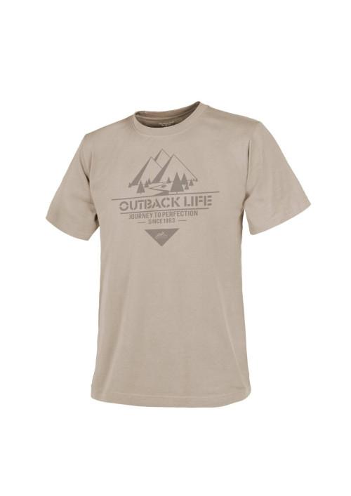 Helikon-Tex® Outback Life tričko s krátkym rukávom Khaki